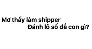Mơ thấy làm shipper đánh lô số đề con gì?
